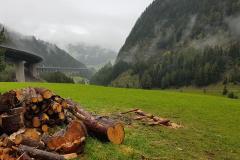 Blick auf die Brenner-Autobahn