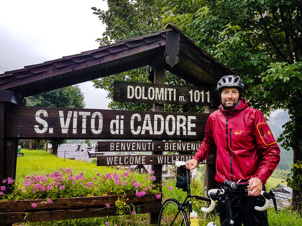 Daniel am Ortschild S.Vito di Cadore