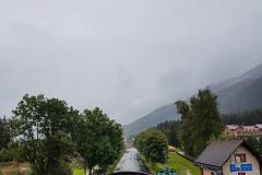 Aussicht vom Zimmerfenster, es regnet!