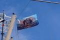 Flagge hängt...