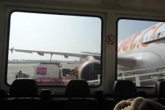 Blick aufs Flugzeug