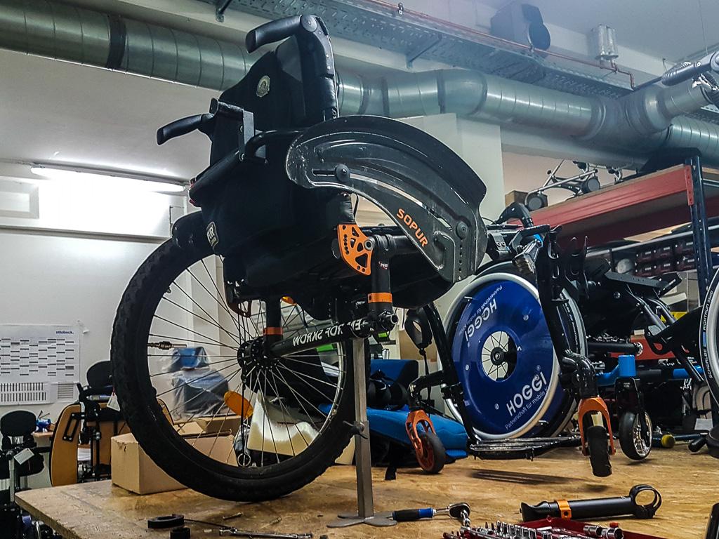 Rollstuhl zerlegen