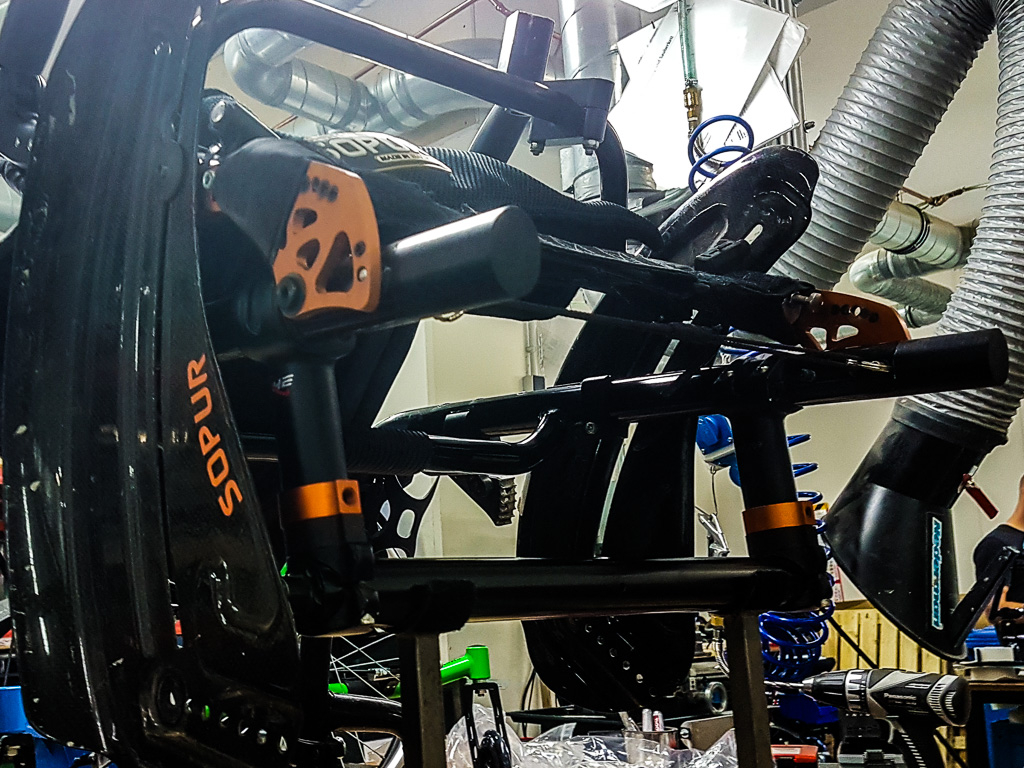 Rollstuhl montieren