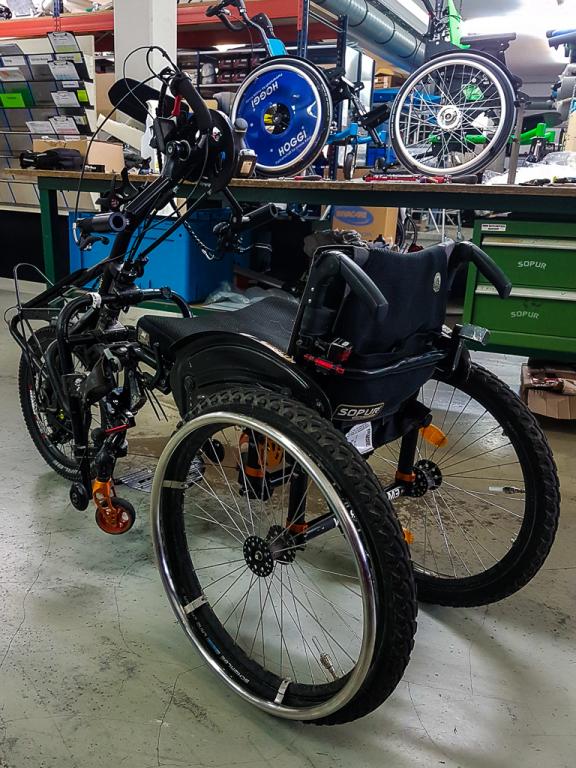 Handbike fertig