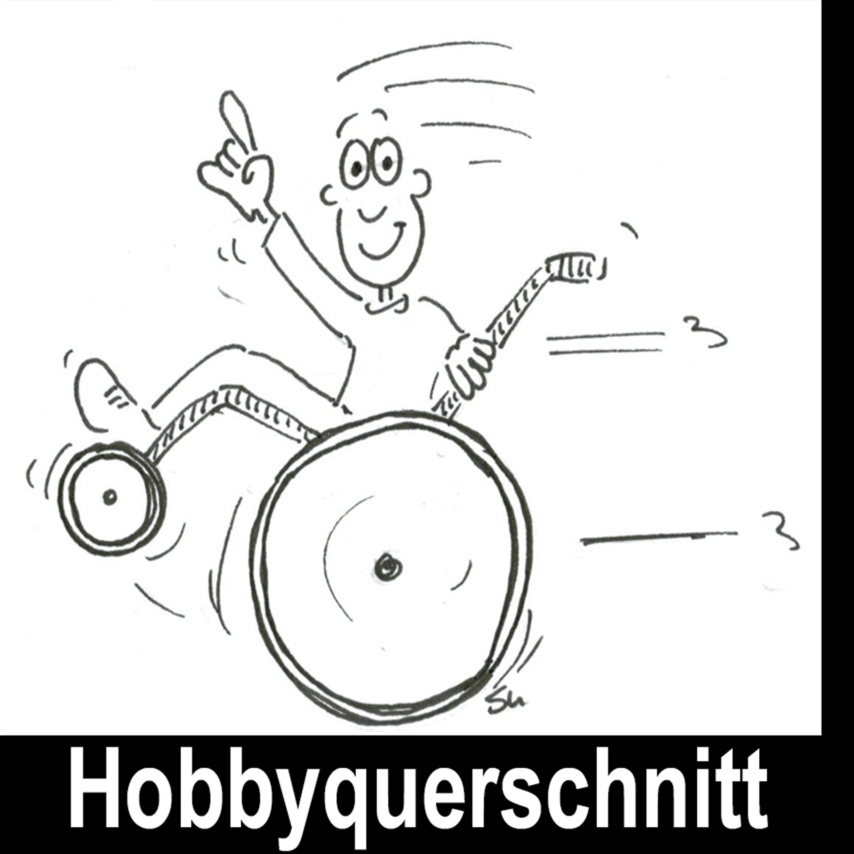Fröhlicher Rollstuhlfahrer