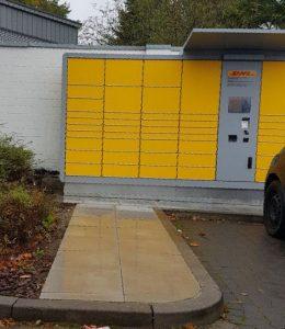 Nicht barrierefrei Packstation