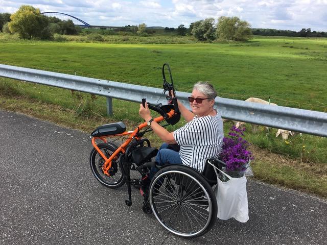 Kerstin Hagemann mit Handbike