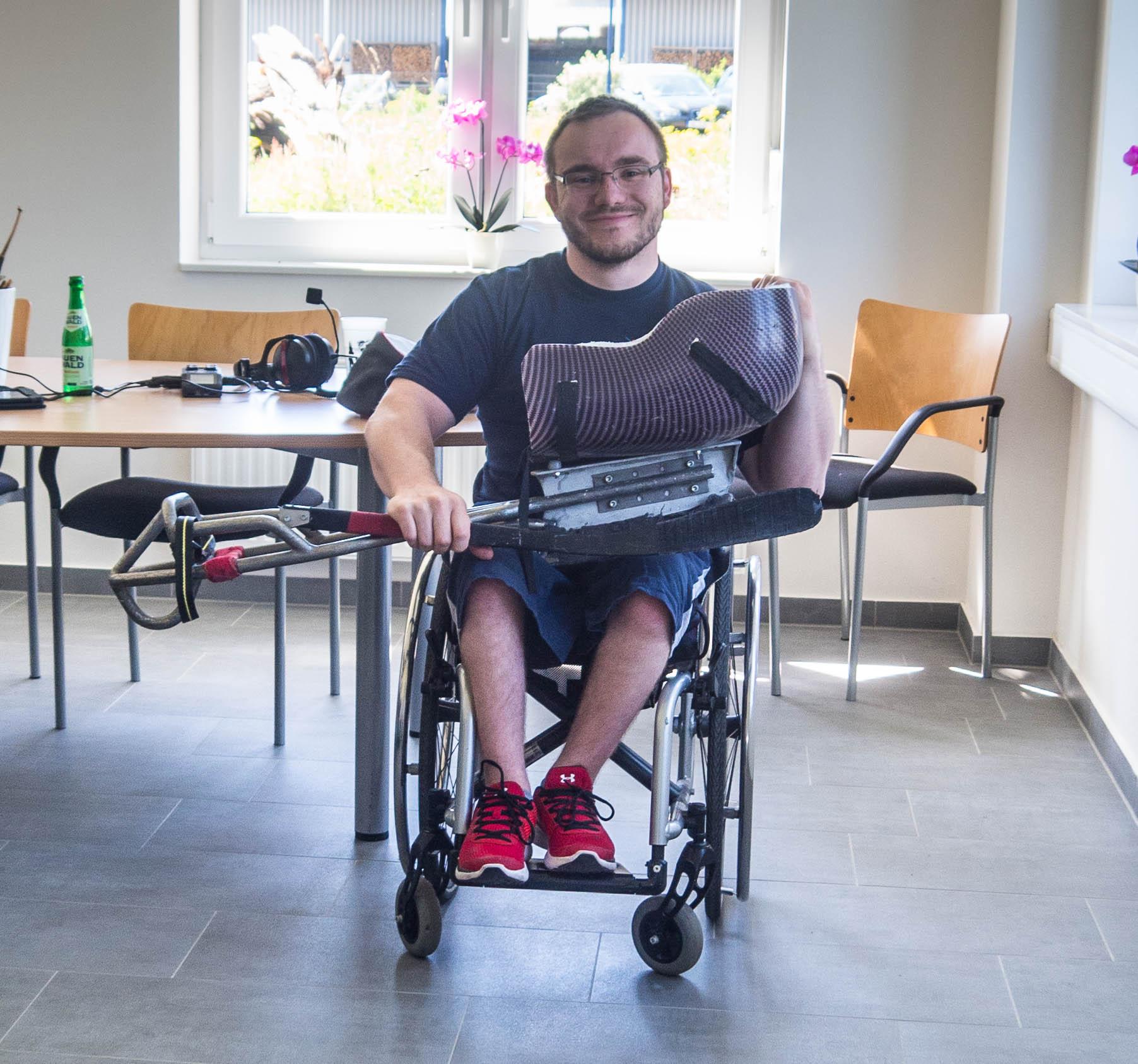 Frank Rennhack mit seinem Schlitten